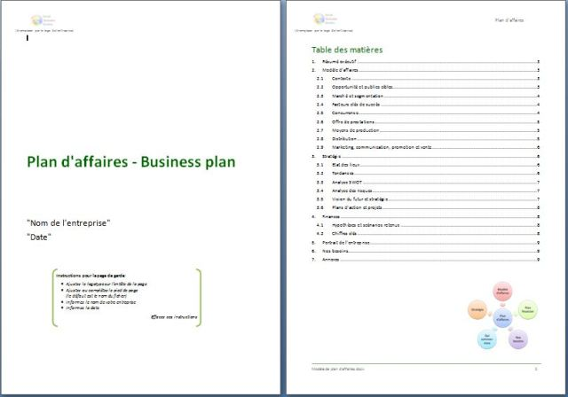 exemple de business plan de site internet source