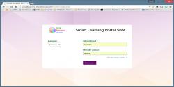 Login sur le Smart Learning Portal