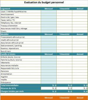 Evaluation pr liminaire de la viabilit financi re social business models - Tableau excel budget mensuel ...