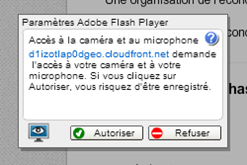 Autorisation du plugin Flash